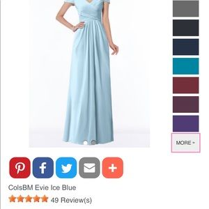 Bridesmaid dress, sky blue, 12, worn once